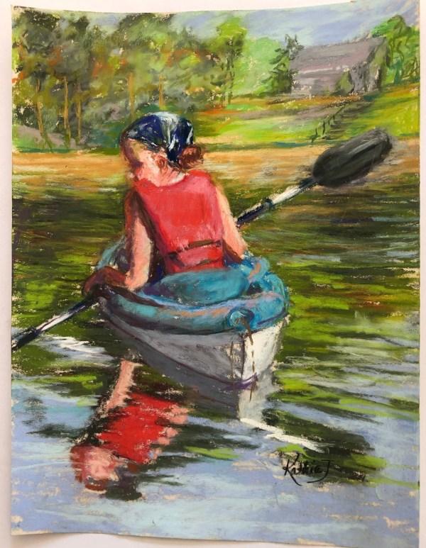 "Kathie Troshynski, ""Morning Kayak"", Pastel, 9 x 12 plus frame, $225"