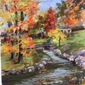 """Kathy Troshynsky, """"Rochester Park"""", Pastel, 9x12, $75"""
