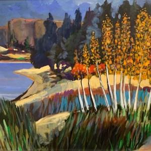 """Gary Van Gorp, """"Colorado"""", acrylic, $400"""
