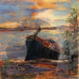 """Kathie Troshynski, """" Came Ashore"""", pastel, 12x12, $150.jpg"""