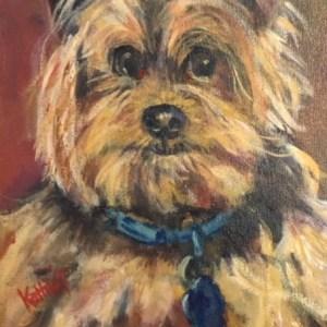 """Kathie Troshynski, """"Happy Pup"""", acrylic, 10x-12, $80.jpg"""