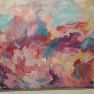 """Agnes Miller, """"A Hole in Chaos"""", 40 x 30, $500, acrylic on canvas"""