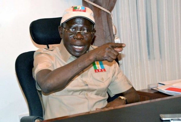 Oshiomhole: it's undemocratic for courts to award electoral victories