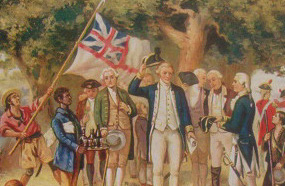 Captain Cook takes formal possession of New South Wales 1770
