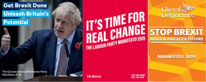 2019 general election party manifestos: Conservative party, Labour party  and Liberal Democrats party