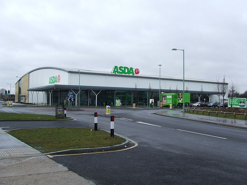 ASDA store (Image by Keith Evans licensed for reuse under the Creative Commons Attribution-ShareAlike 2.0 license)