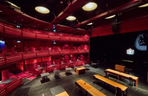 The Lowry Theatre in Salford, turned into a Nightingale Court. Source: https://www.gov.uk/government/news/eight-more-nightingale-courts-to-deliver-justice