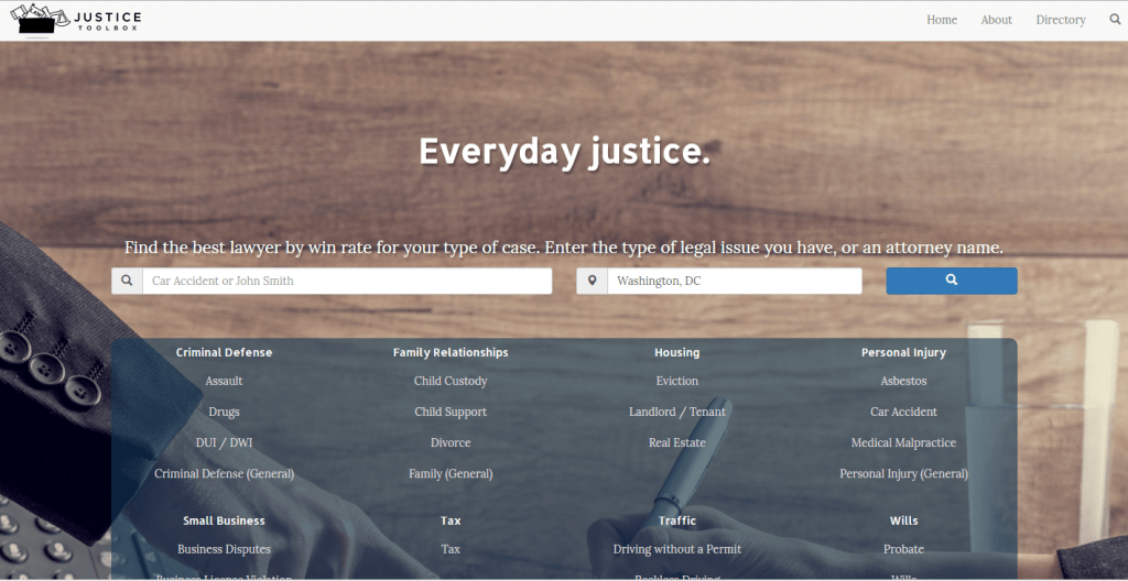 Justice Toolbox Lets People Pick Lawyers Based On Win