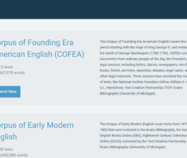 New Corpus Linguistics Platform Lets Legal Researchers Explore The Meanings Of Words And Phrases