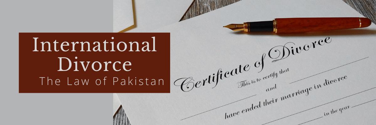 International divorce in Pakistan