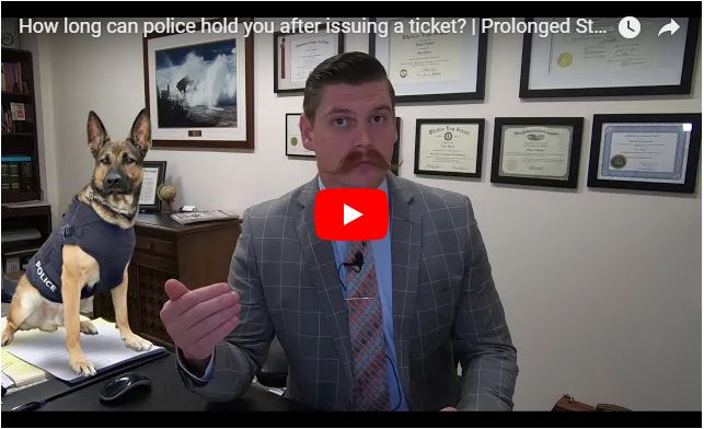 How long can police hold you after issuing a ticket?   Prolonged Police Stop