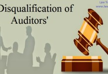 Disqualification of auditors