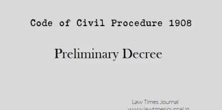Preliminary Decree