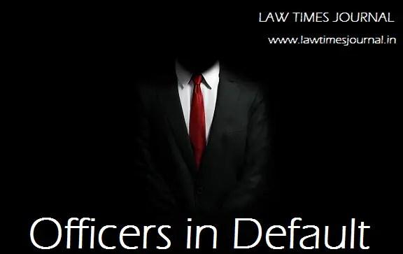 Officer in Default