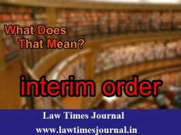 Interim Orders