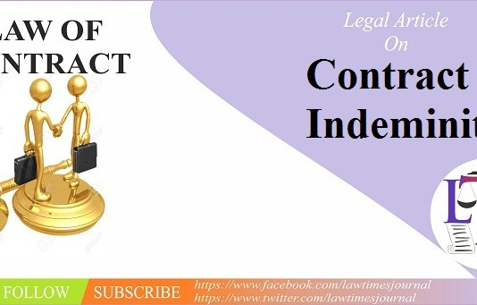 Contract of Indeminity