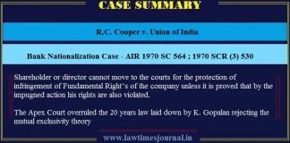 Bank Nationalization Case