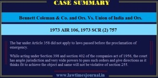 Bennett Coleman & Co. and Ors. Vs. Union of India and Ors.