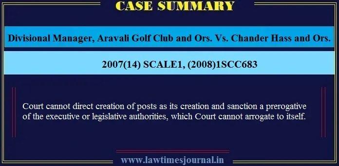 Divisional Manager Aravali Golf Club