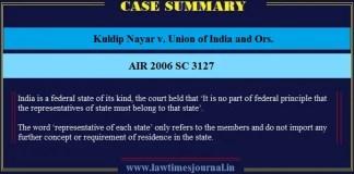 Kuldip Nayar v. Union of India