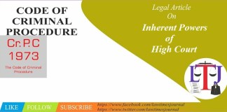 Inherent Powers of High Court