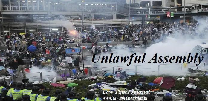 unlawful assembly ipc