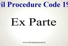 ex parte decree