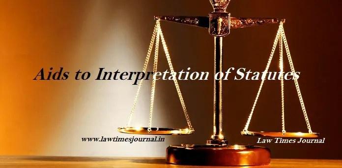 Aids to interpretation of statutes