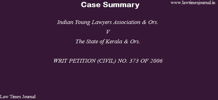 Indian young Lawyers Association & ors.
