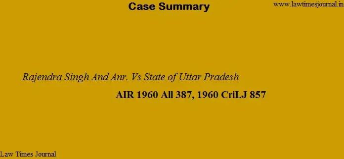 Rajendra Singh & anr. vs State of Uttar Pradesh
