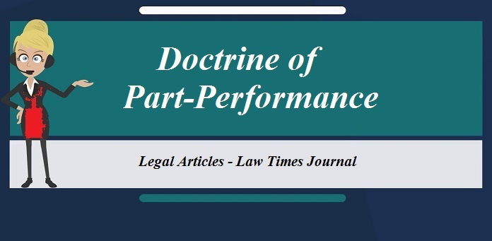 Doctrine of part-performance