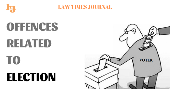 offences relating to election