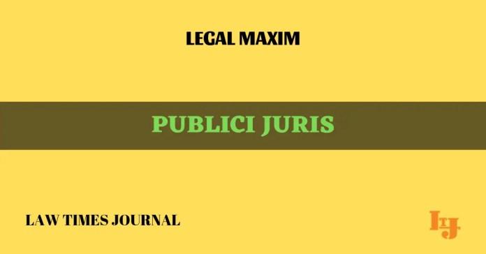 Publici Juris