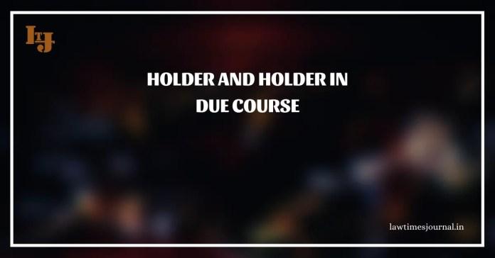 Holder as The holder