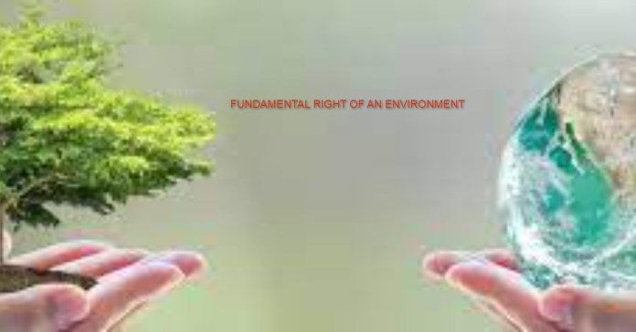good and healthy environment