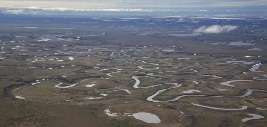 Sprawling lands with a complex system of rivers and streams.