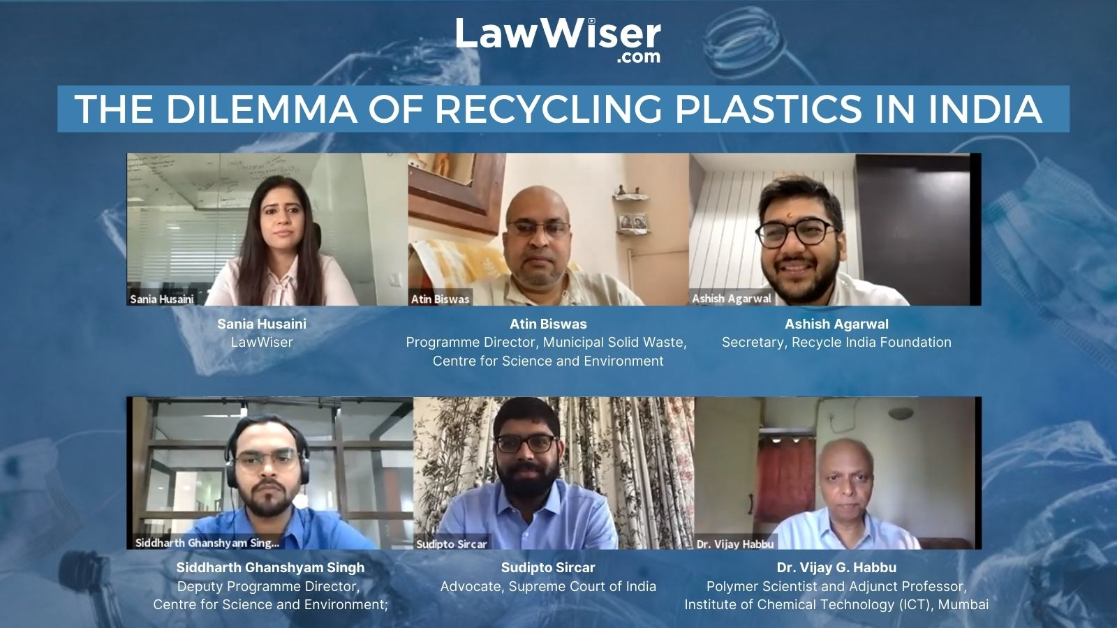 Virtual Open Forum | The Dilemma of Recycling Plastics in India | LawWiser