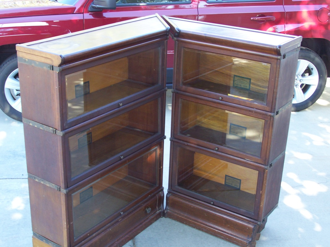 3 4 Wide 25 Inch Antique Lawyer Barrister Bookcase For