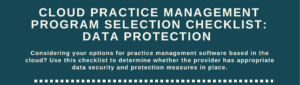 cloud-practice-management-checklist