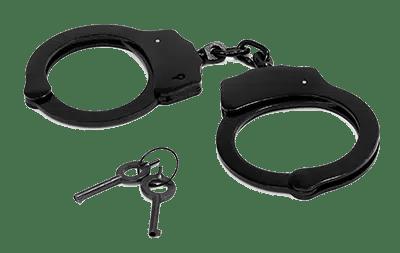 Handcuffs beside its key.
