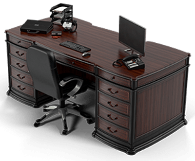 An executive's work desk as the post deals with contracts.