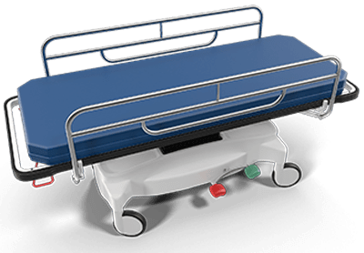 A medical stretcher as some cases can be quite serious.
