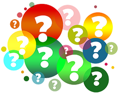 Question marks to indicate the the area of discussion.