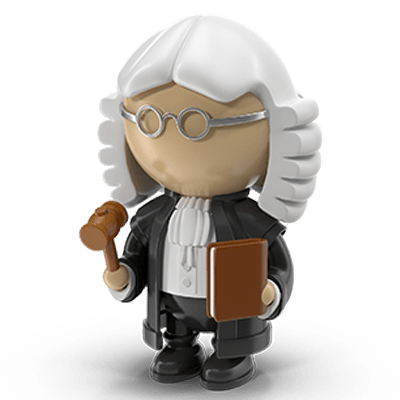 A cartoon judge as this post is mostly about jurisprudence.