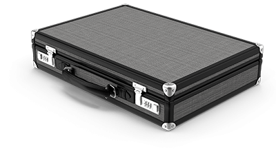 A briefcase as a symbol of a corporate officer.