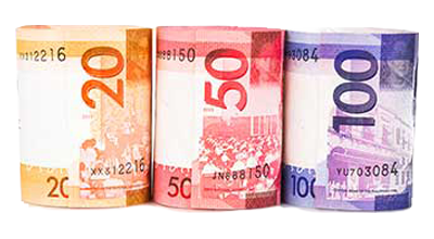Philippine bank notes to indicate liabilities.