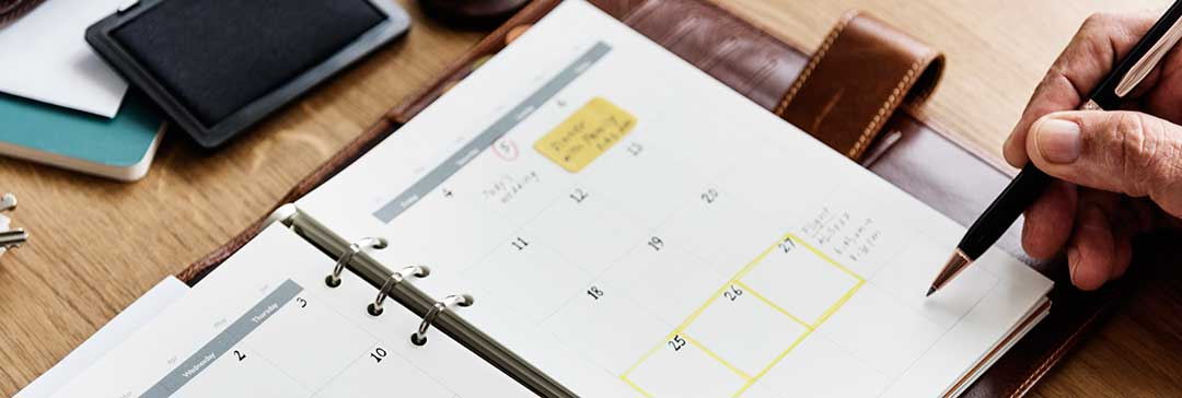 A calendar showing that legal separation will still take time.