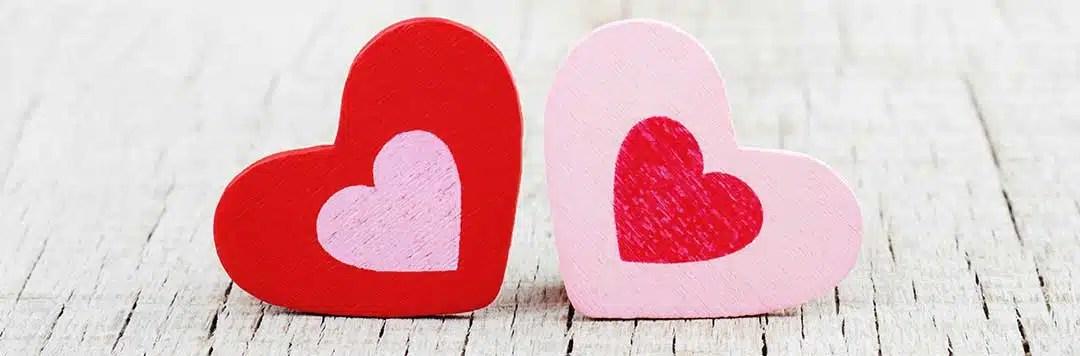Hearts to illustrate reconciliation