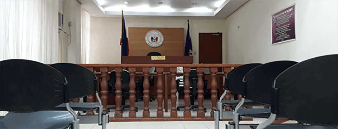 A Philippine RTC to symbolize the court process.