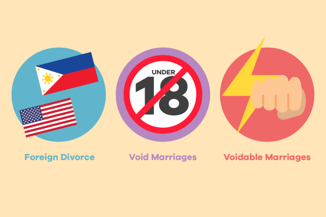 Although there are 3 ways for Filipinos to legally end a marriage, most will go through Annulment.